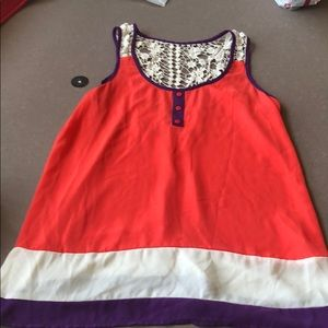 Size S 100% polyester/cotton embroidery tank by Ya